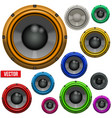 Set of Colorful Sound Load Speakers vector image