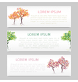 Set of three banners with abstract trees vector image vector image