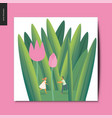 simple things - couple in tulips vector image vector image