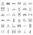 statue icons set outline style vector image vector image