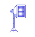 studio soft box with grid icon vector image