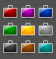 Suitcase icons vector image