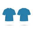 t shirt blue vector image vector image