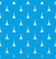 traffic cone pattern seamless blue vector image vector image