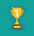 trophy first place number one flat icon vector image vector image