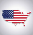 usa america flag in map symbol vector image vector image