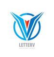 v letter - logo template concept vector image