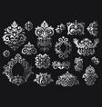 vintage baroque ornament ornate floral sprigs vector image vector image