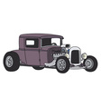 Violet hot rod vector image vector image