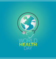 world health day logo icon design vector image vector image
