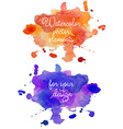 Abstract watercolor hand painted background in vector image