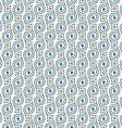 Seamless retro pattern with swirls vector image