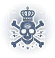 skull eye blue vector image