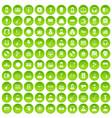 100 music icons set green circle vector image vector image
