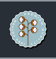 100 percent natural cotton logo natural textile vector image vector image