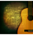 abstract green grunge music background with vector image vector image