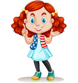 American girl with red hair vector image vector image