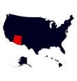 Arizona State in the United States map vector image