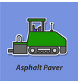 asphalt paver color flat icon vector image vector image