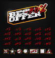 best offer sale tag builder kit typography in vector image vector image