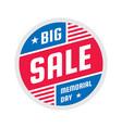 big sale - circle banner concept vector image