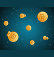bitcoin cryptocurrency style design collection vector image vector image
