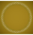 circle frame with filigree patterns luxurious art vector image vector image