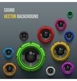 Colorful Sound Load Speakers on dark background vector image