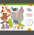 count animals educational game for children vector image vector image