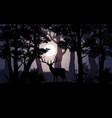 deer in moonlight vector image