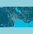 detailed map baku city linear print map