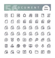 document line icons set vector image vector image