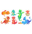 dragon kids fantasy baby dragons funny fairytale vector image vector image