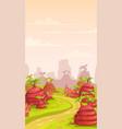 fantasy world scene vector image vector image