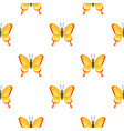 flat style seamless pattern with butterfly vector image