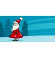 funny Santa Claus cartoon card vector image vector image