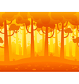Game Seamless Horizontal Forest Background vector image vector image