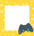 gaming video and photo frame vector image vector image