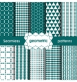 Geometric turquoise Seamless Patterns Set vector image vector image