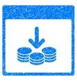 Get Coins Calendar Page Grainy Texture Icon vector image vector image