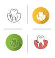 gum bleeding icon vector image vector image