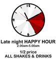 Happy hour concept with clock for pubs or clubs vector image