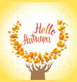 hello autumn tree vector image vector image