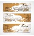 Horizontal retro coffee set banners vector image vector image