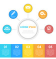 infographics template with circle vector image
