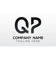 initial letter qp logo design with modern vector image vector image