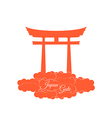 Japan gate isolated on white background vector image vector image