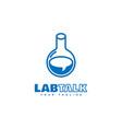 lab talk logo vector image vector image