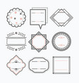 line isolated black blank empty emblems icons set vector image vector image