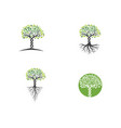 logos green tree leaf vector image vector image